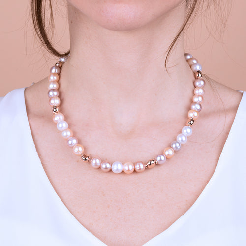 Bronzallure | Necklaces | Rosy Ming Pearl Necklace