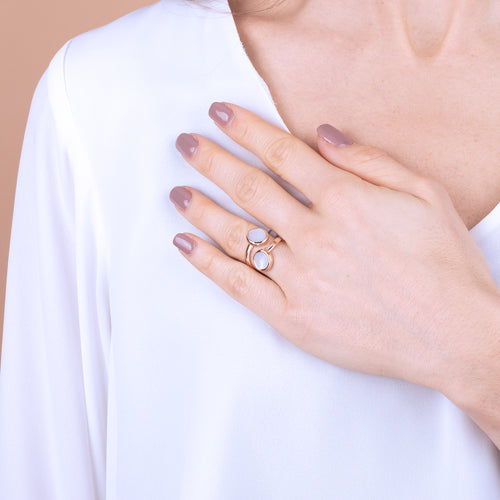 Bronzallure | Rings | Contrarié Ring with Stone Discs