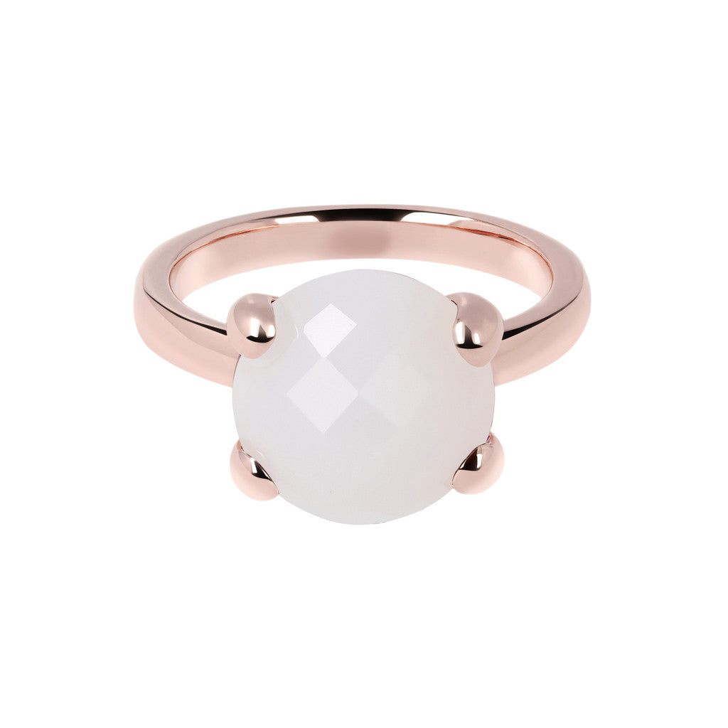 White Chalcedony Cocktail Ring WHITE CHALCEDONY setting