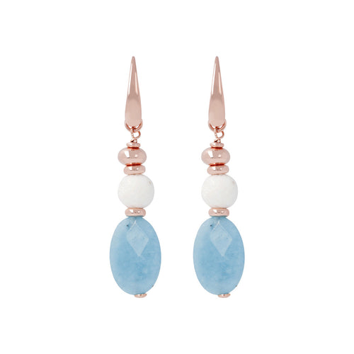 White Coral Dangle Earrings