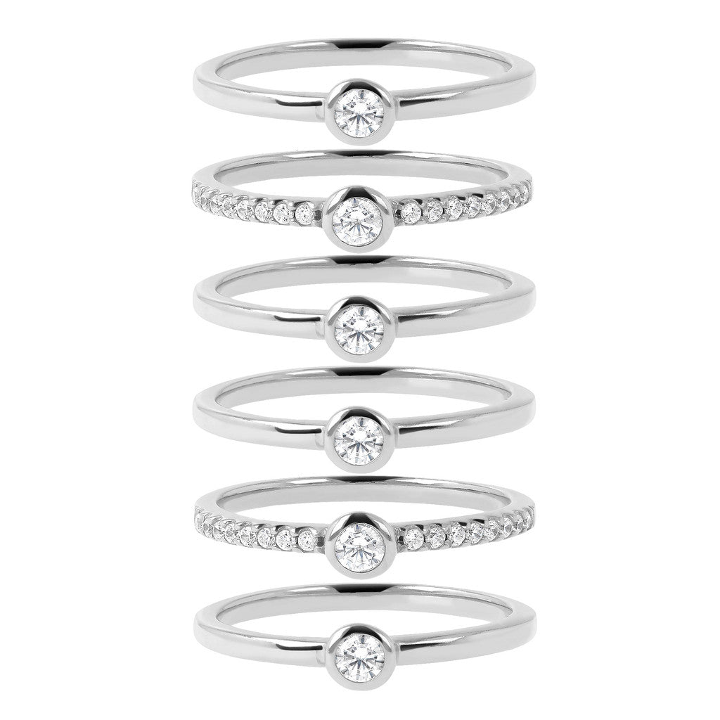 White Gold Moon Rings setting