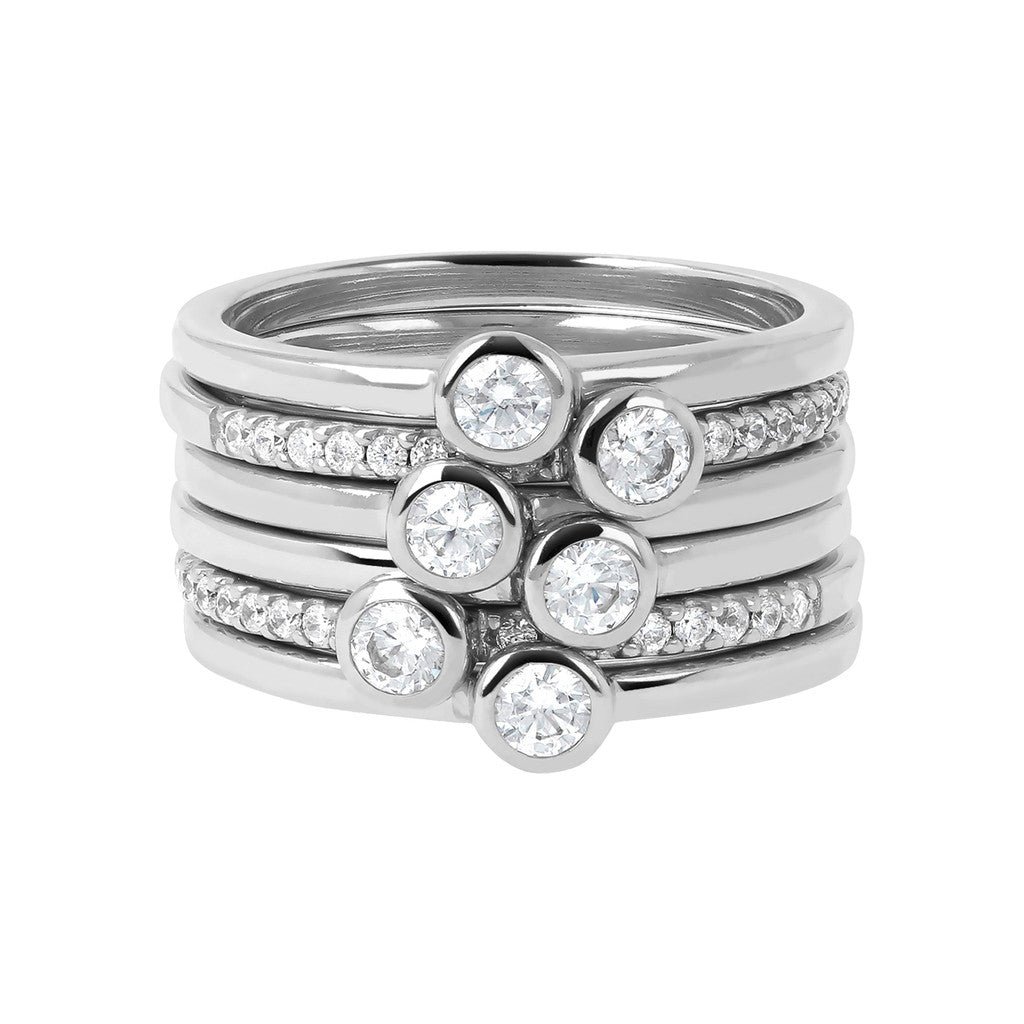 White Gold Moon Rings