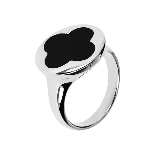 White Gold Ring Quatrefoil