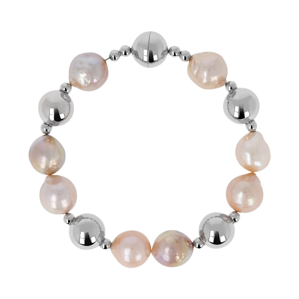 White Gold Waterfall of pearls Bracelet