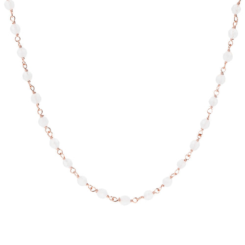 White Quartzite Amorette Necklace