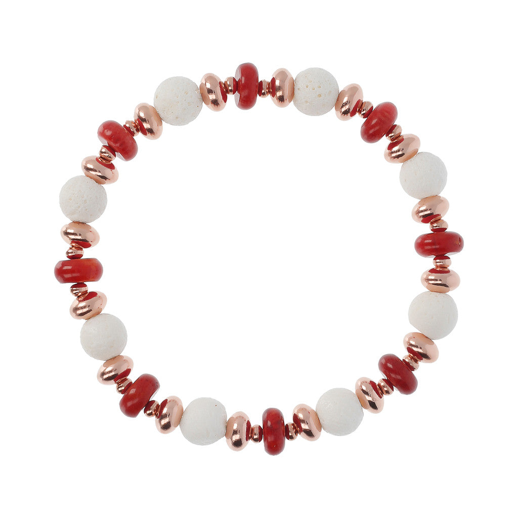 chain Coral Bracelet RED CORAL