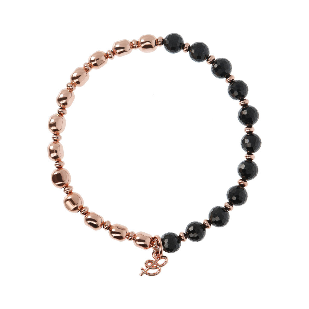 chain Rainbow Bracelet BLACK SPINEL