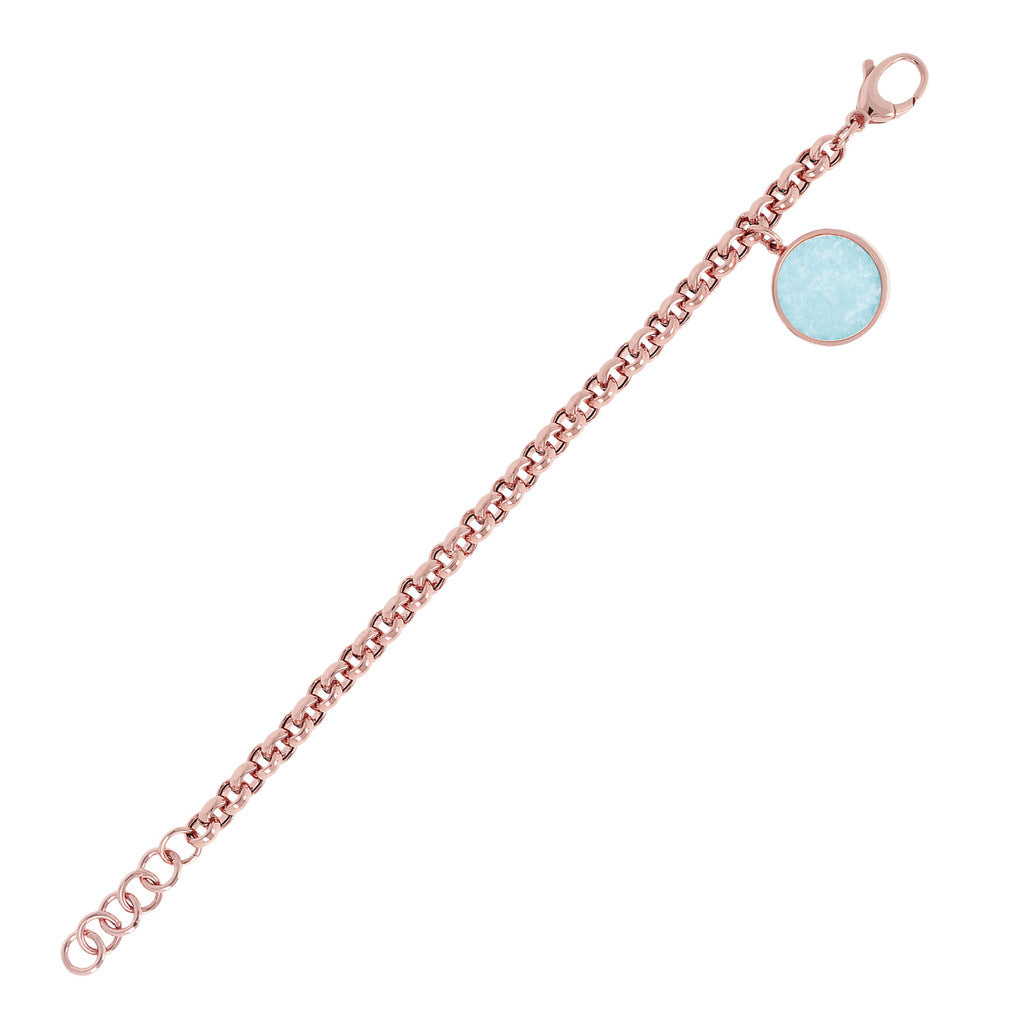 chain Rolo Bracelet with Gemstone
