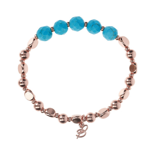 chain Stretchable Nugget and Gemstone Bracelet