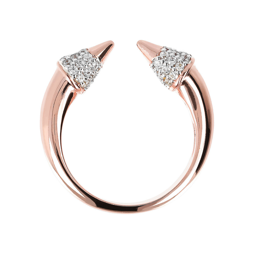 cz arrow ring setting