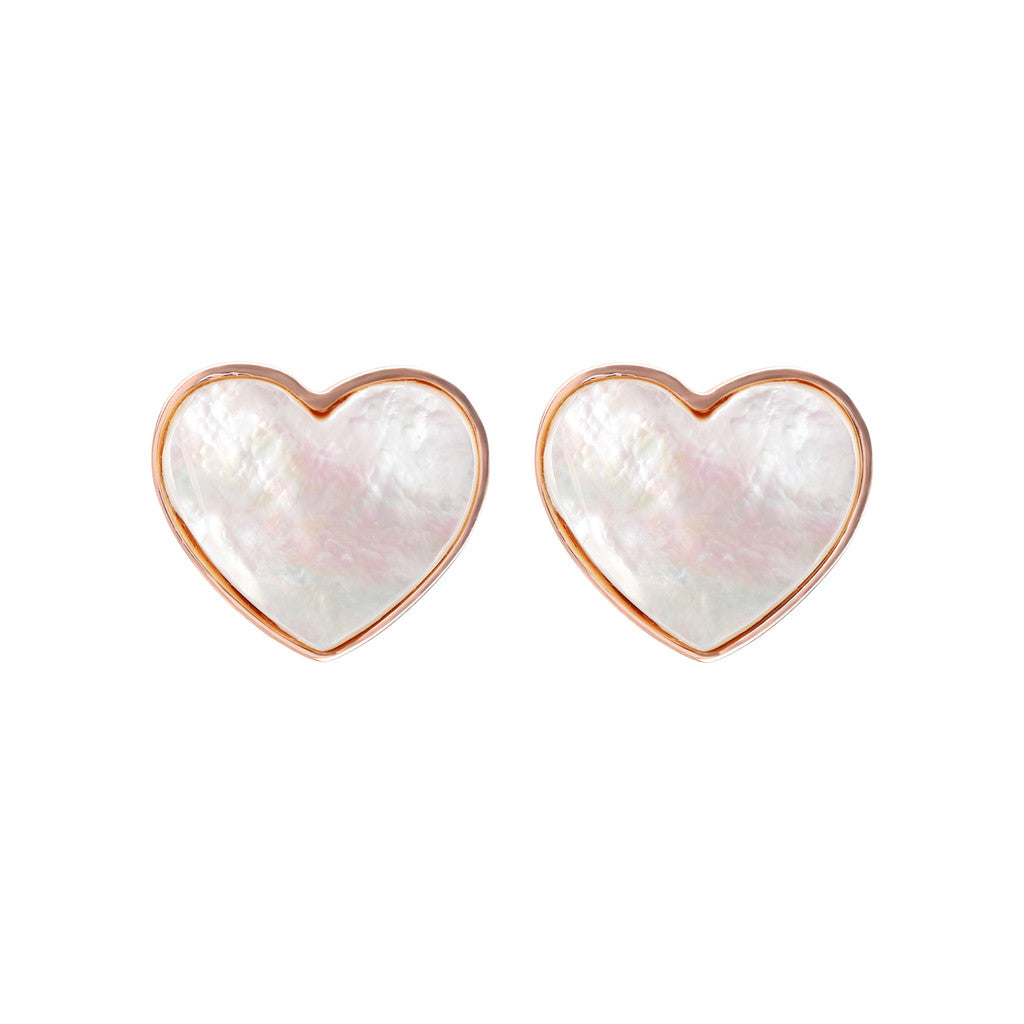earrings, jewelry, bijoux, stud earrings, earrings for women, rose gold earrings, earrings for girls, hypoallergenic earrings, stone earrings WHITE MOP