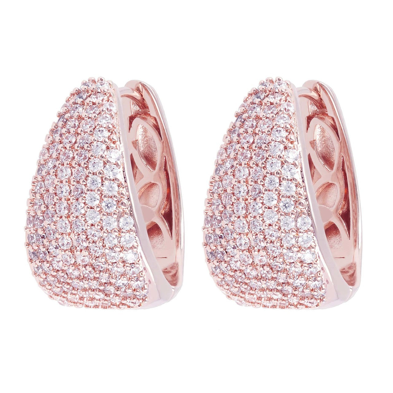 micro pave hoops CUBIC ZIRCONIA