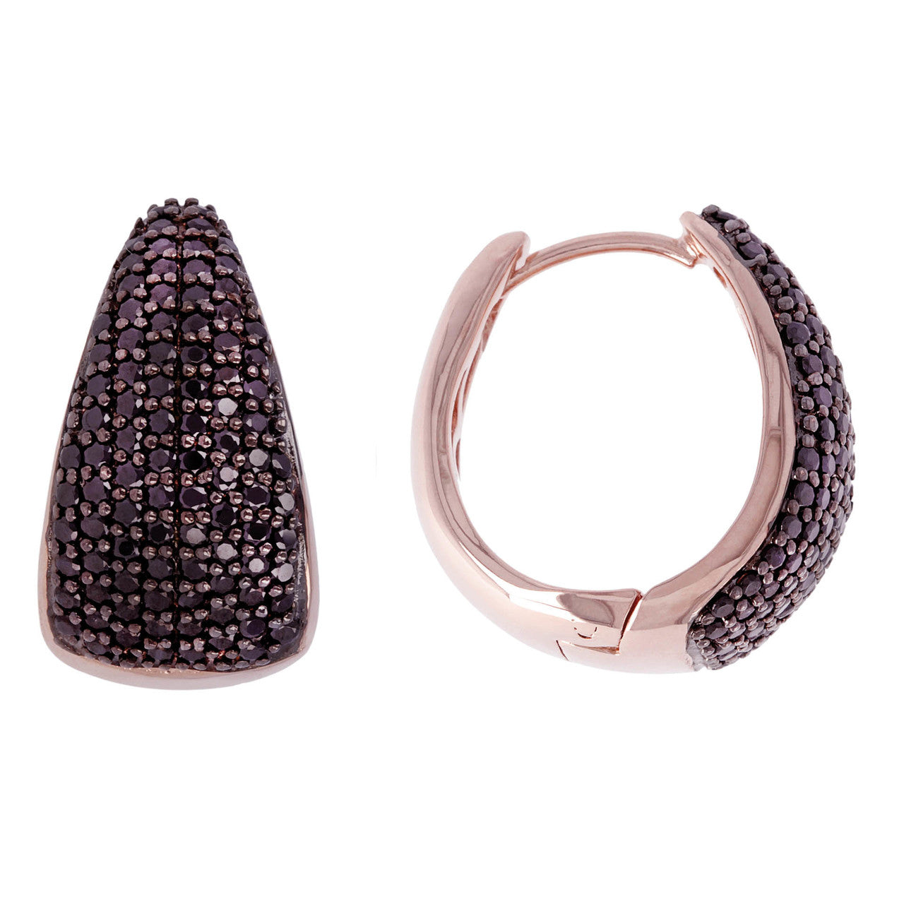 micro pave hoops front and side