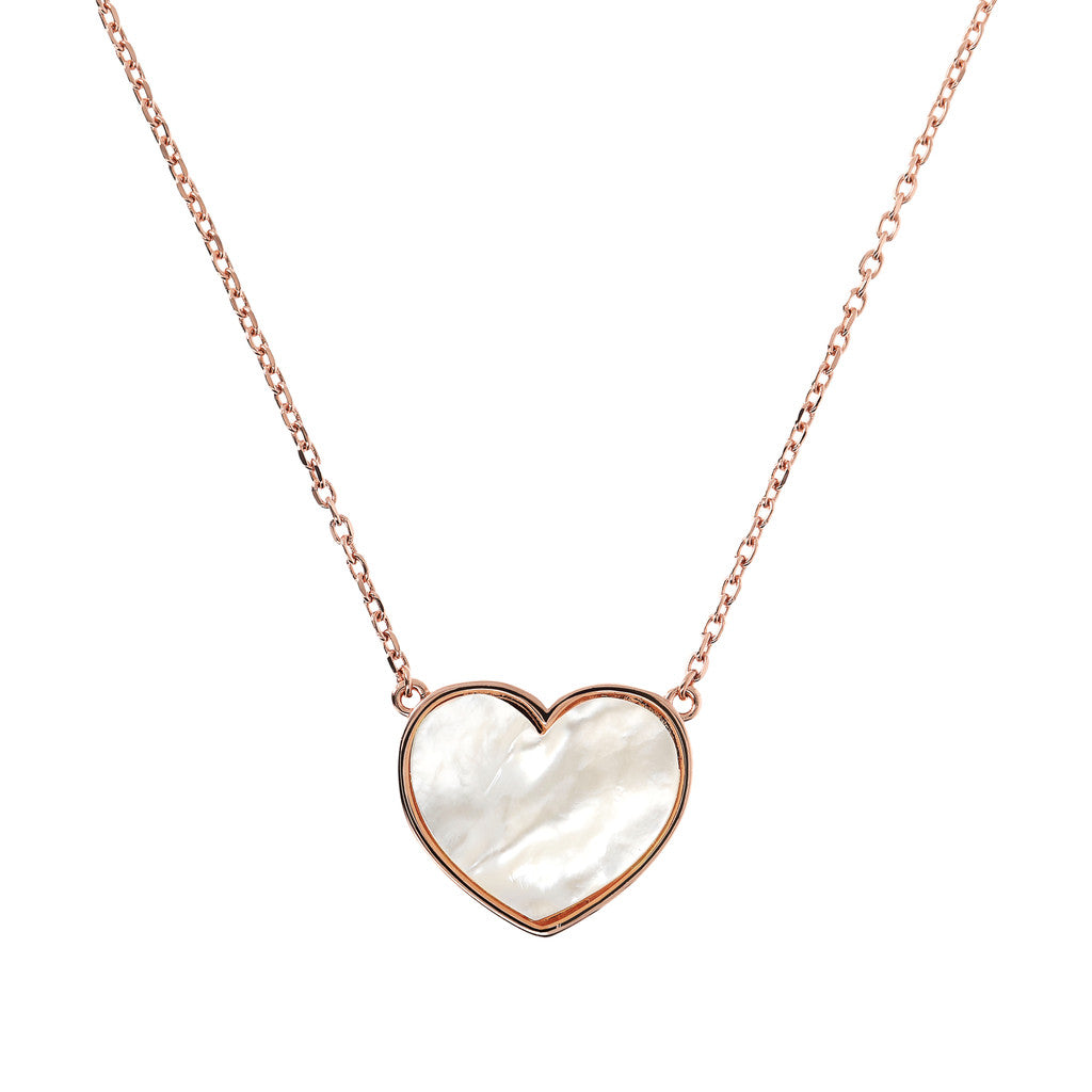 necklace, gold chain, bijoux, pendant, heart necklace, pendant necklace, rose gold necklace, chain necklace, heart pendant,  love necklace WHITE MOP