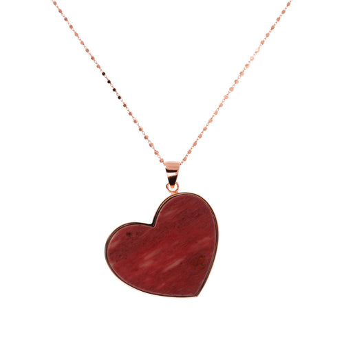 Bronzallure | Necklaces | Long Necklace with Heart Stone Pendant