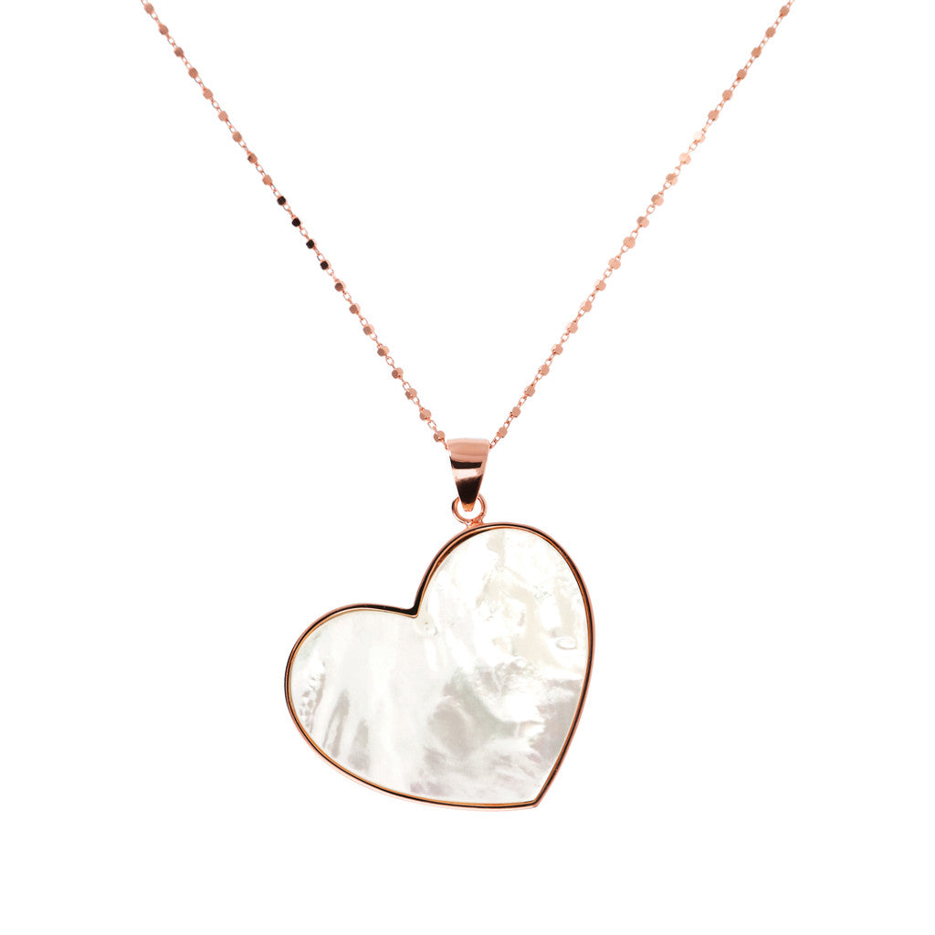 necklace, gold chain, bijoux, pendant, heart necklace, pendant necklace, rose gold necklace, chain necklace, long necklace, heart pendant WHITE MOP
