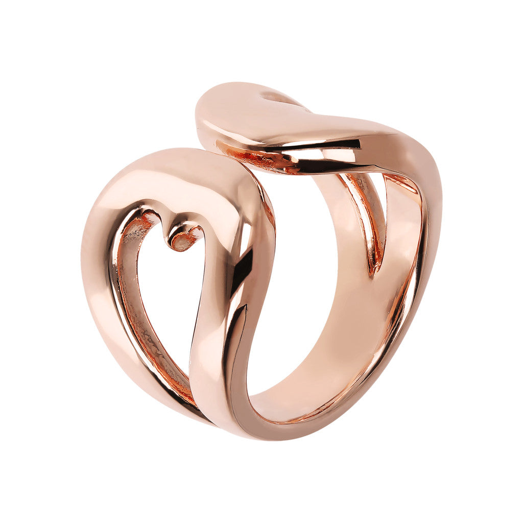 Golden Rosé Heart Shaped Open Ring