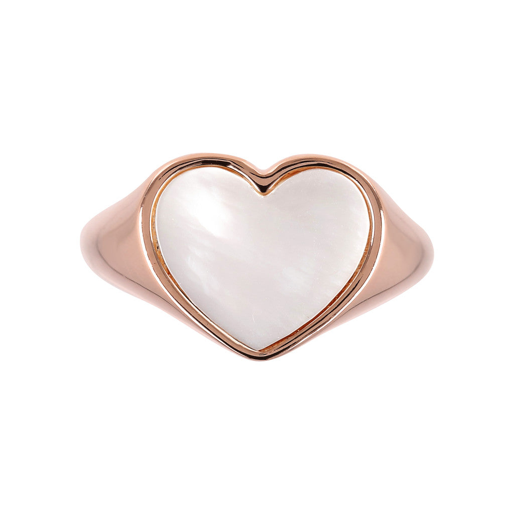 rings, jewelry, bijoux, rose gold rings, ring design, rings for women, heart ring, pink gold, semi precious stones, stone ring design WHITE MOP setting