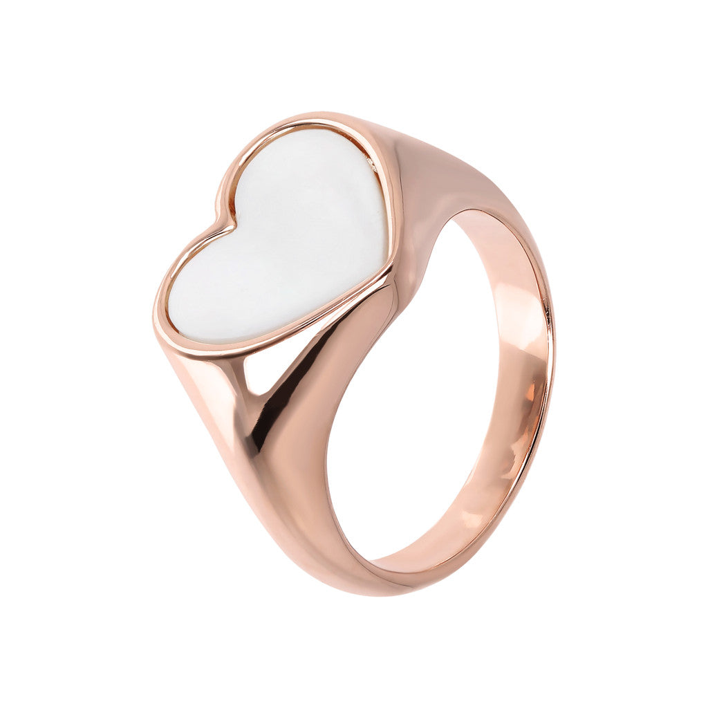 rings, jewelry, bijoux, rose gold rings, ring design, rings for women, heart ring, pink gold, semi precious stones, stone ring design WHITE MOP
