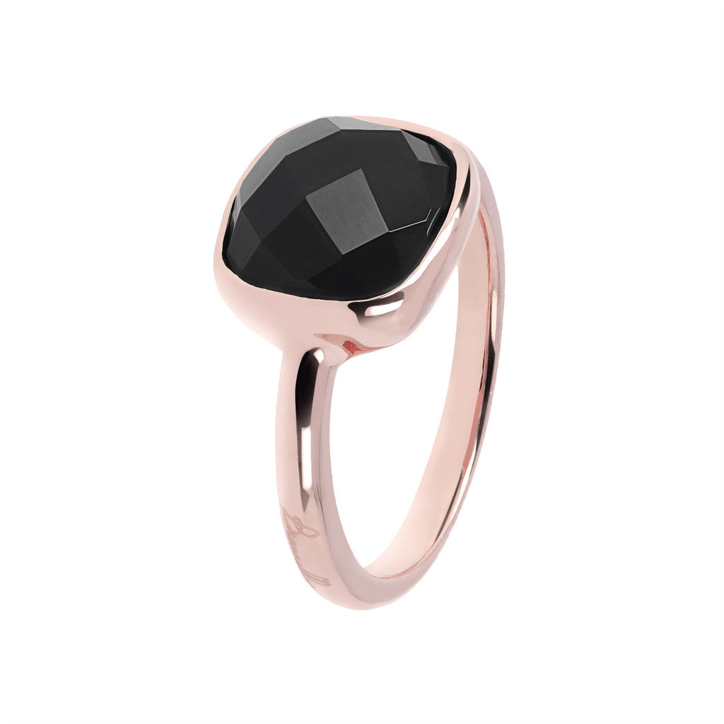solitaire gemstone rings BLACK ONYX