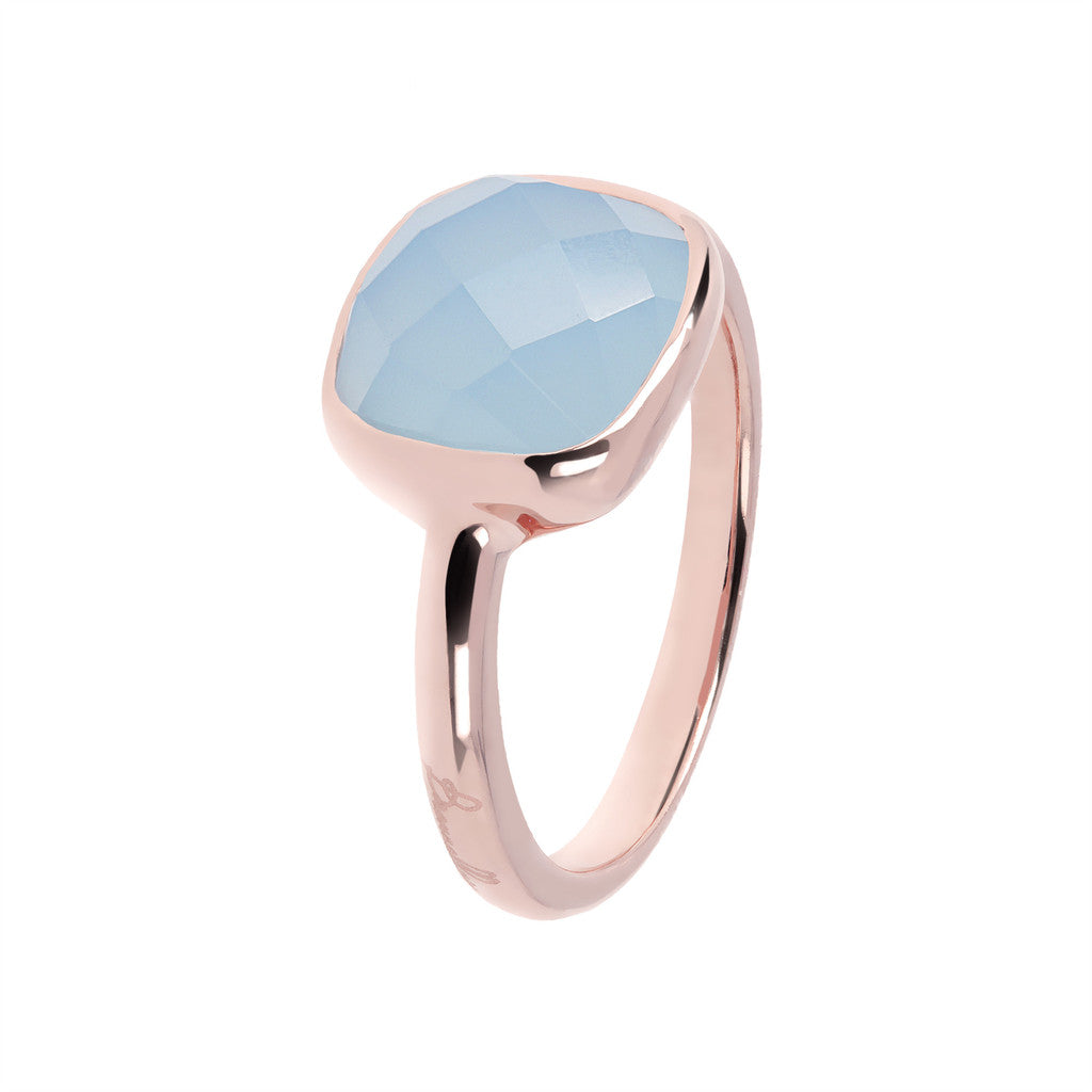 solitaire gemstone rings BLUE LACE AGATE