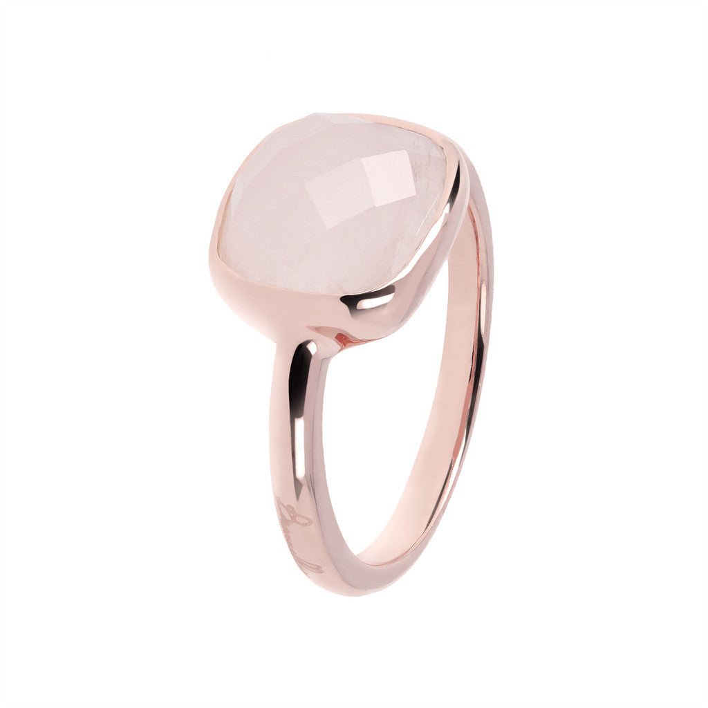 solitaire gemstone rings ROSE QUARTZ