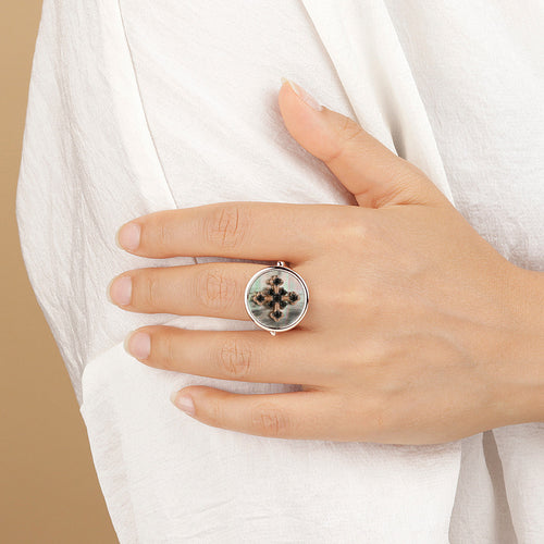 Bronzallure | Rings | Alba Ring CZ Cross
