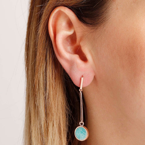 worn Amazonite Dangle Earrings