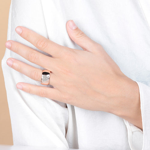 Bronzallure | Rings | Band Ring with Heart CZ