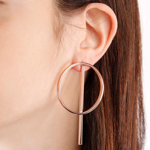 worn Circle Earrings
