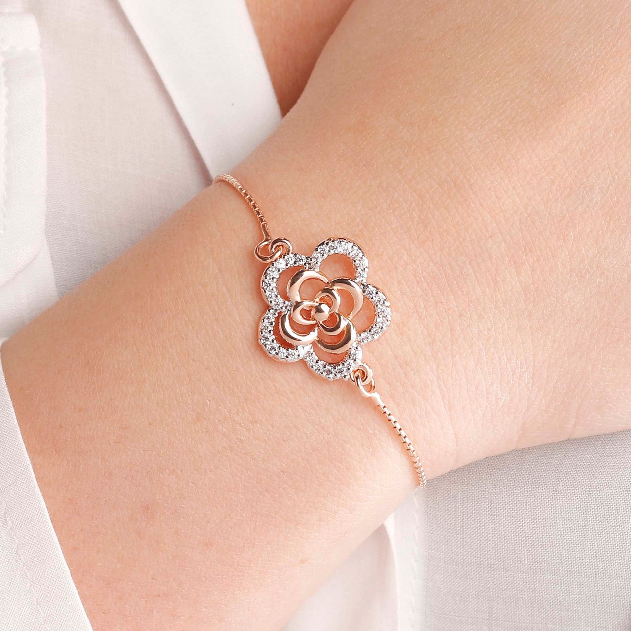 worn Flower friendship bracelet