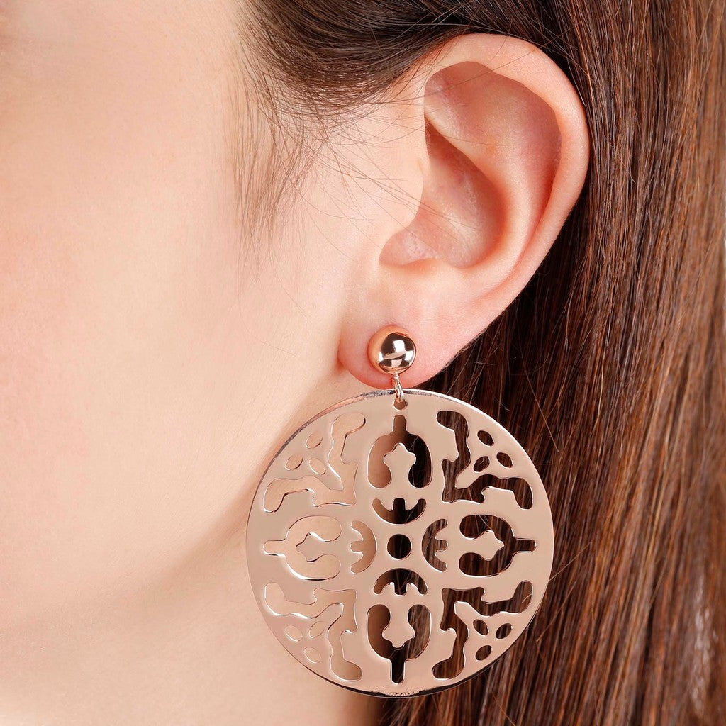 worn Geometric drop earrings