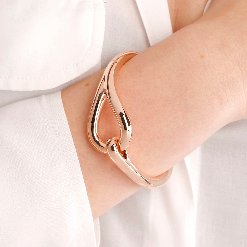 worn Hook Bangle Bracelet