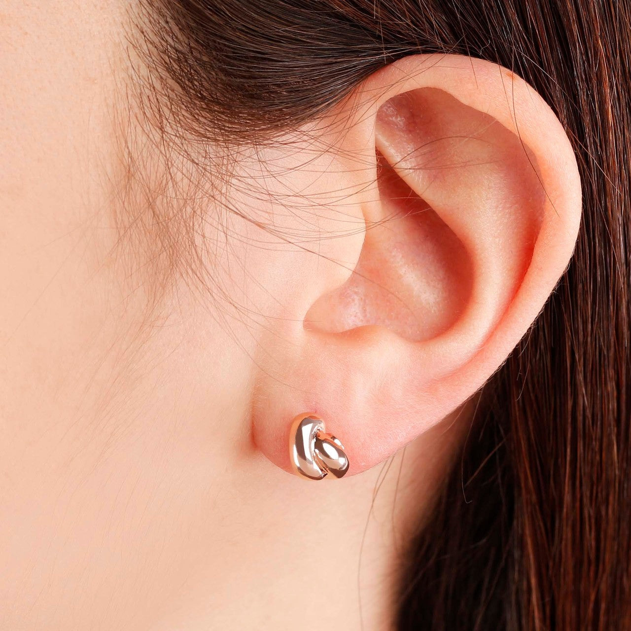 worn Knot stud earrings