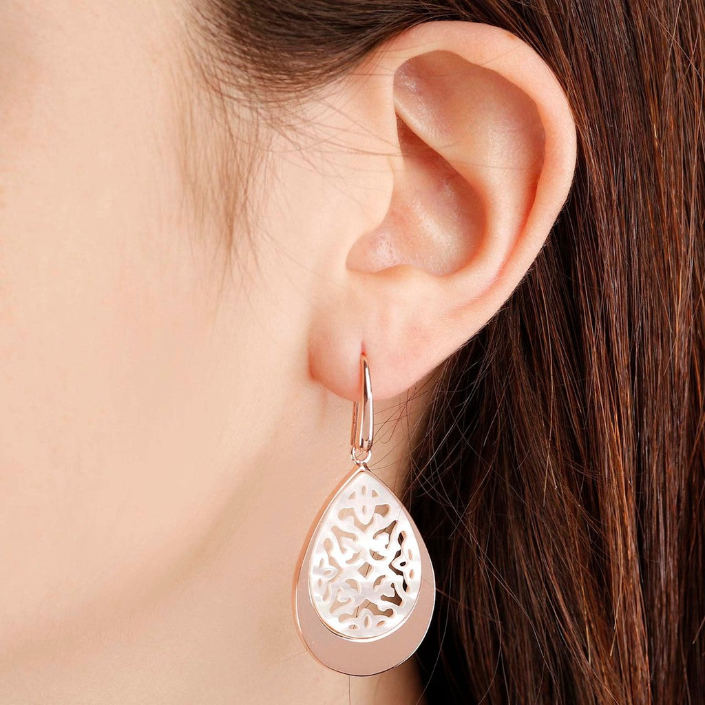 worn Lace Drop Earrings