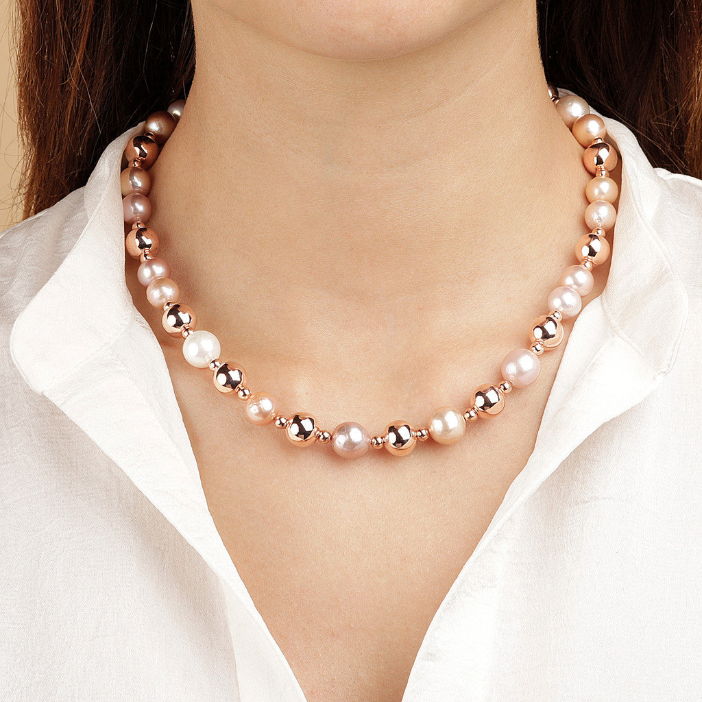 worn MAXIMA bEADS AND PEARLS NECKLACE - WSBZ01584