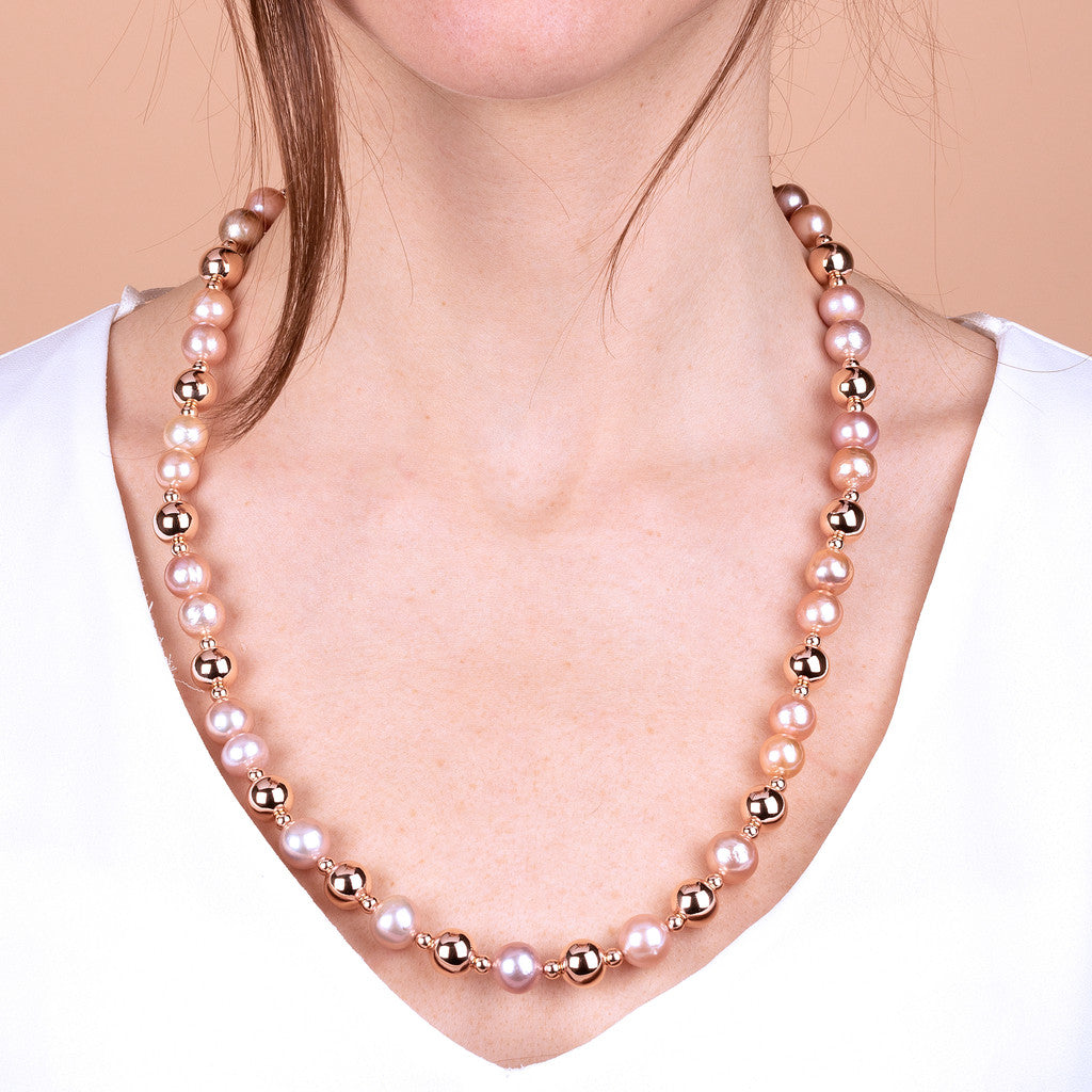 worn Ming Pearls Long Necklace