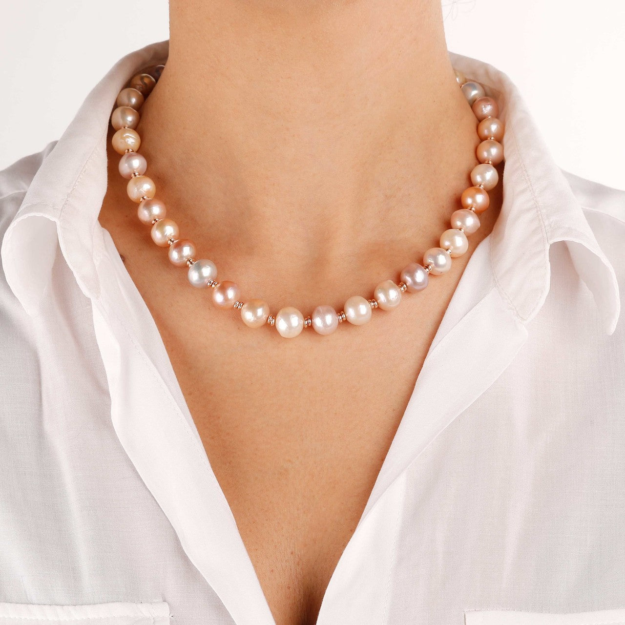 worn One Strand Pearl Necklace