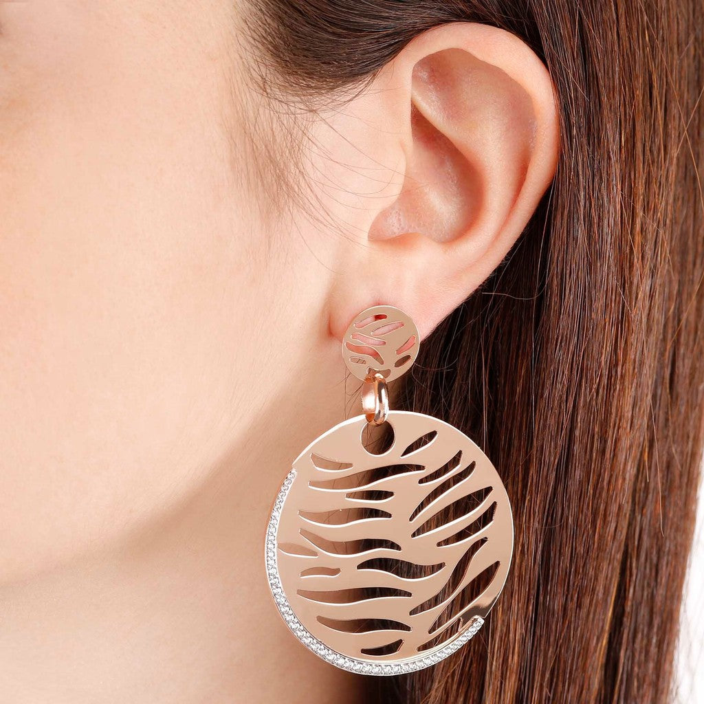 worn Openwork Earrings