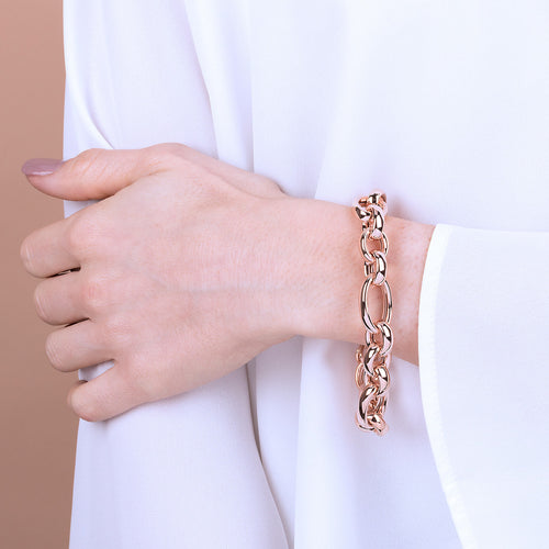 Bronzallure | Bracelets | Oval Chain Bracelet - adjustable length