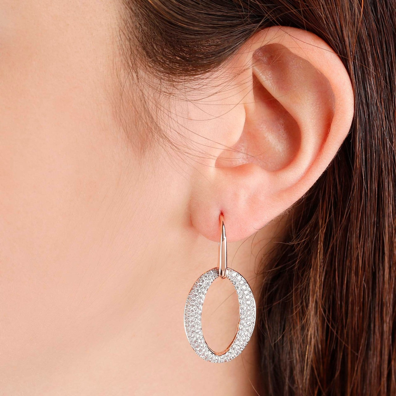 Oval Earrings 18KT rose gold