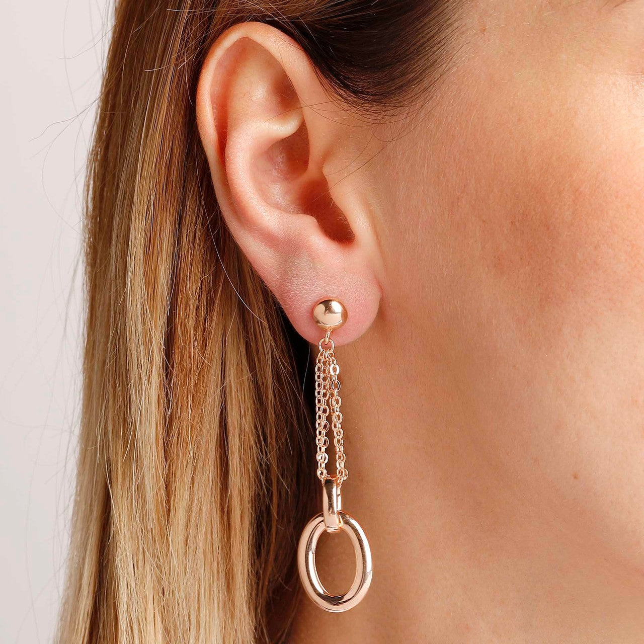 worn Long chain earrings