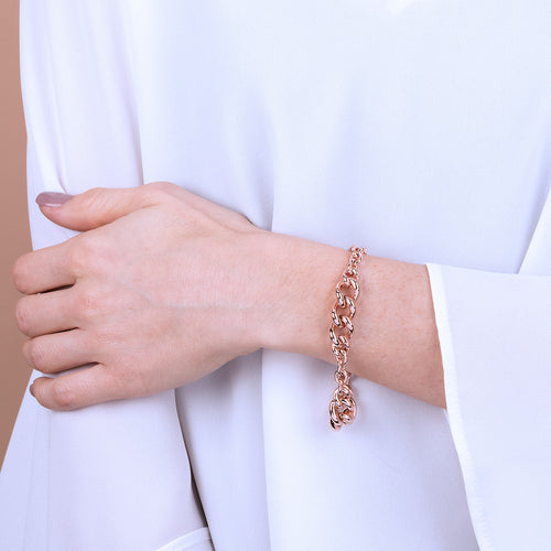 Bronzallure | Bracelets | Rolò Chain Bracelet with Curb Elements