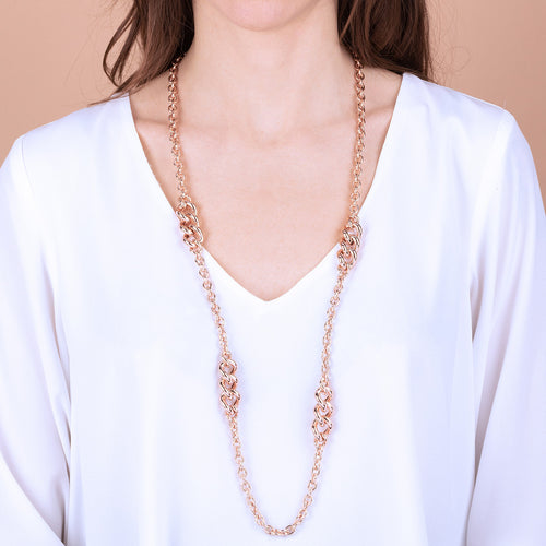 Bronzallure | Necklaces | Station Necklace with Curb Elements