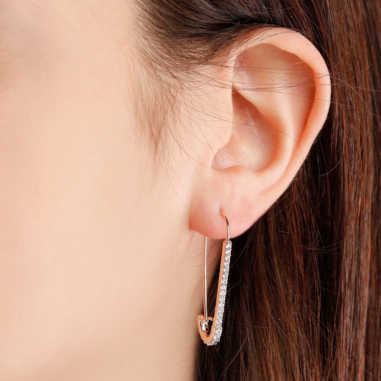 worn Pin Shaped Earrings