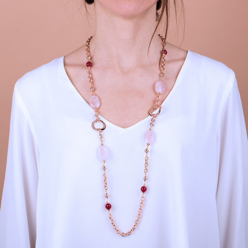 Bronzallure | Necklaces | Pink Necklace with Gemstones