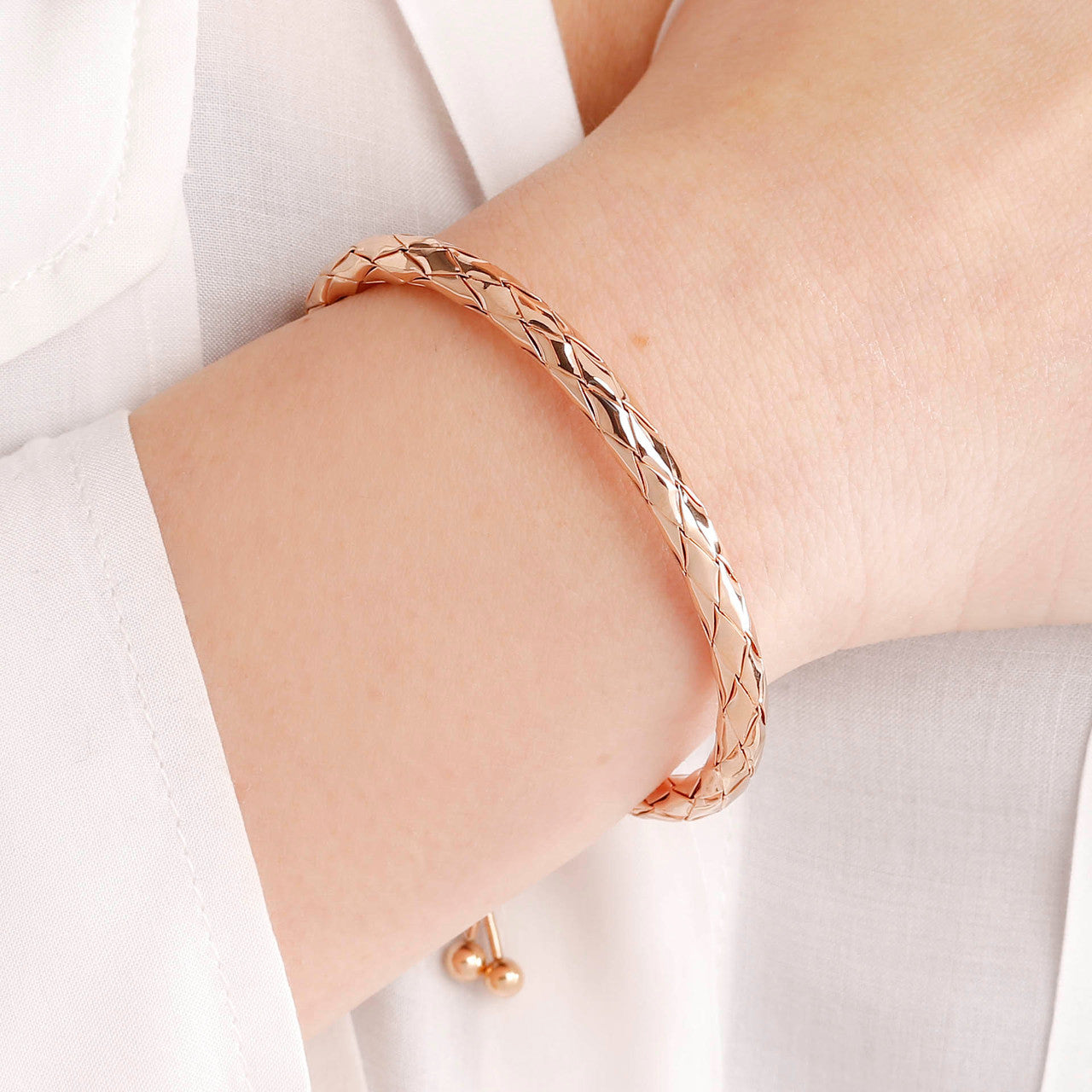 worn Purezza Braided Friendship Cuff