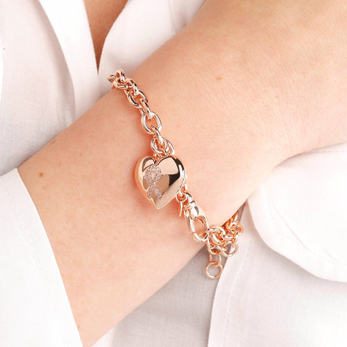 worn Ribbon Charm Bracelet