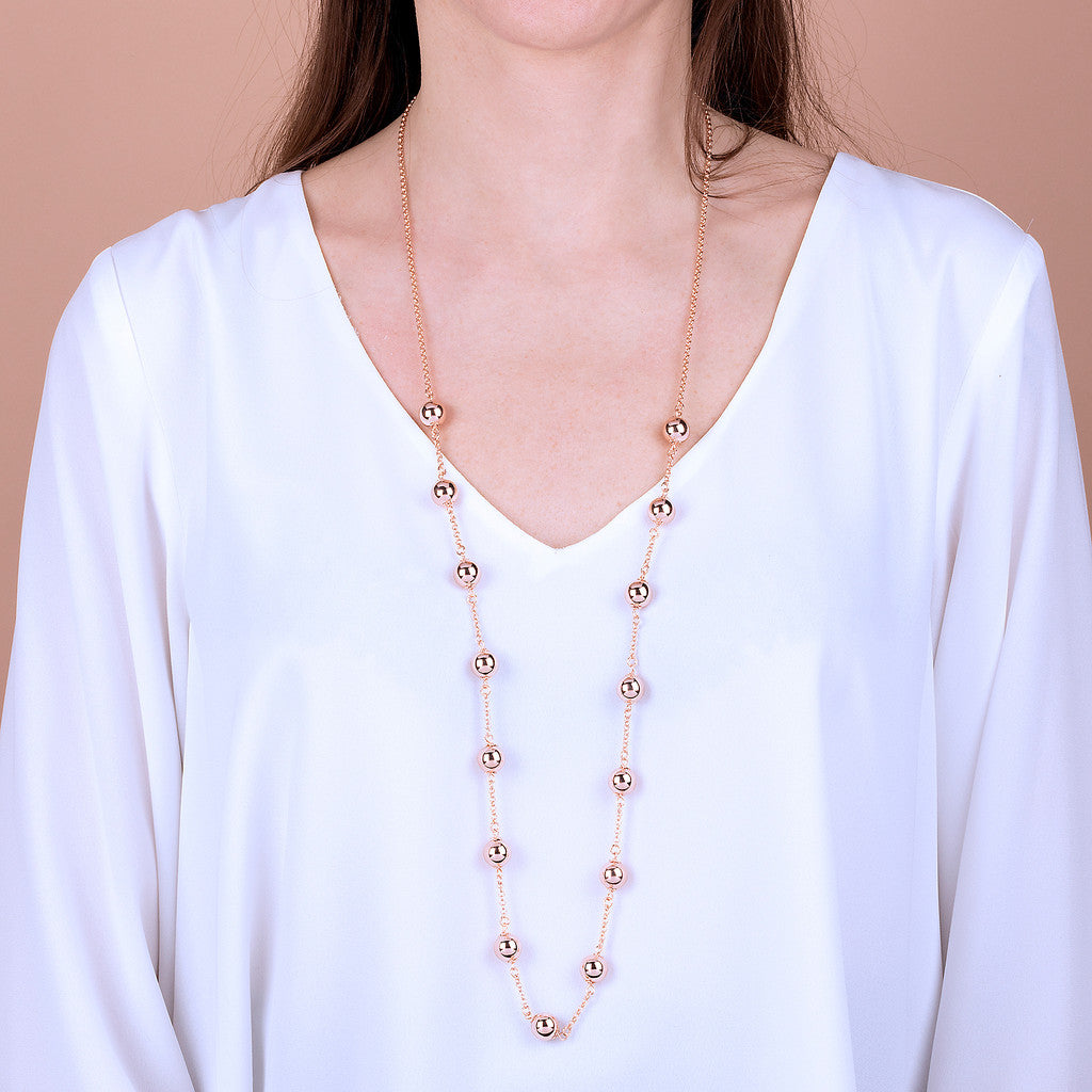 worn Rosary bead necklace