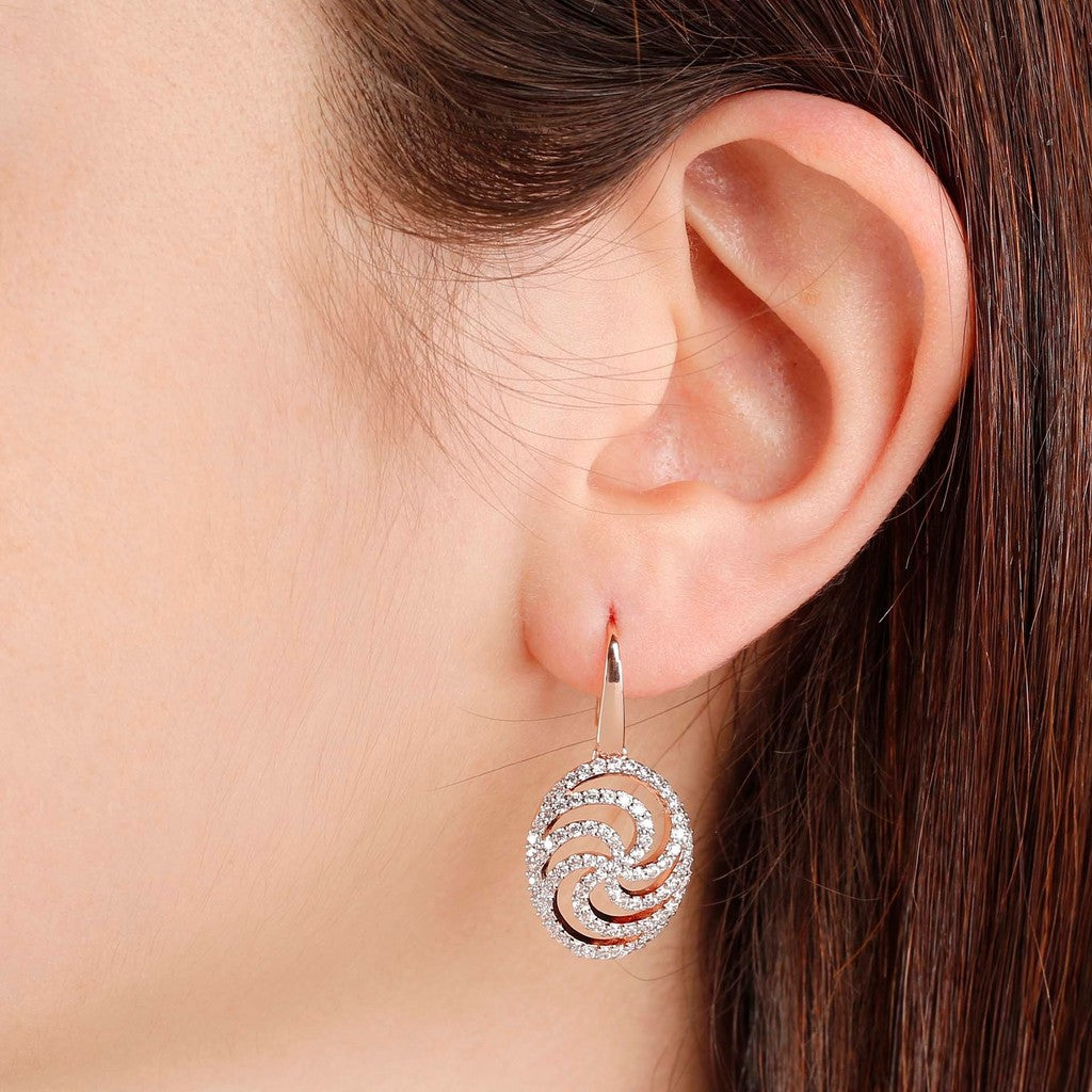 worn Swirl Dangle Earrings